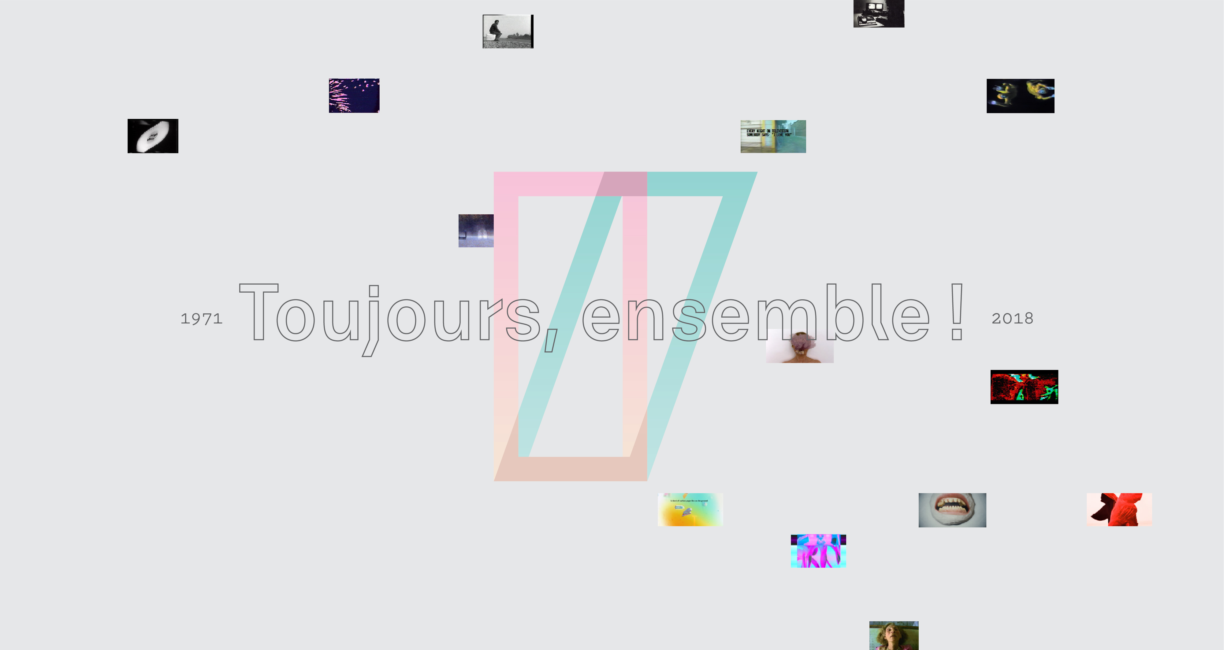 toujours ensemble, logo Vidéographe et mini-photos