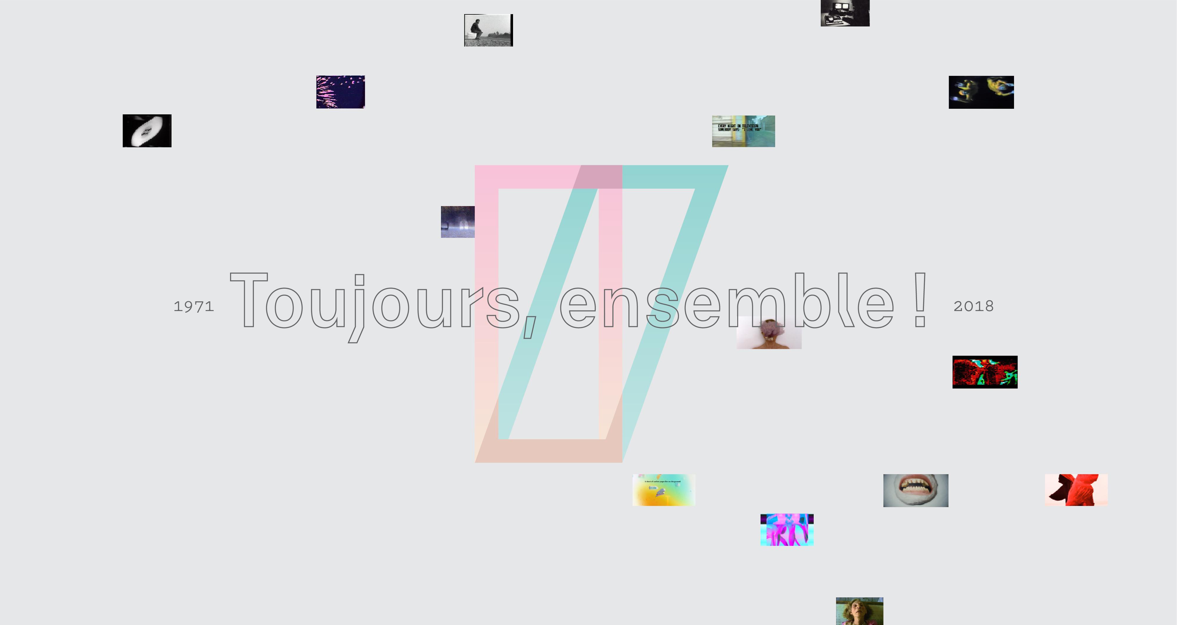 toujours ensemble, Vidéographe's logo and small films stills