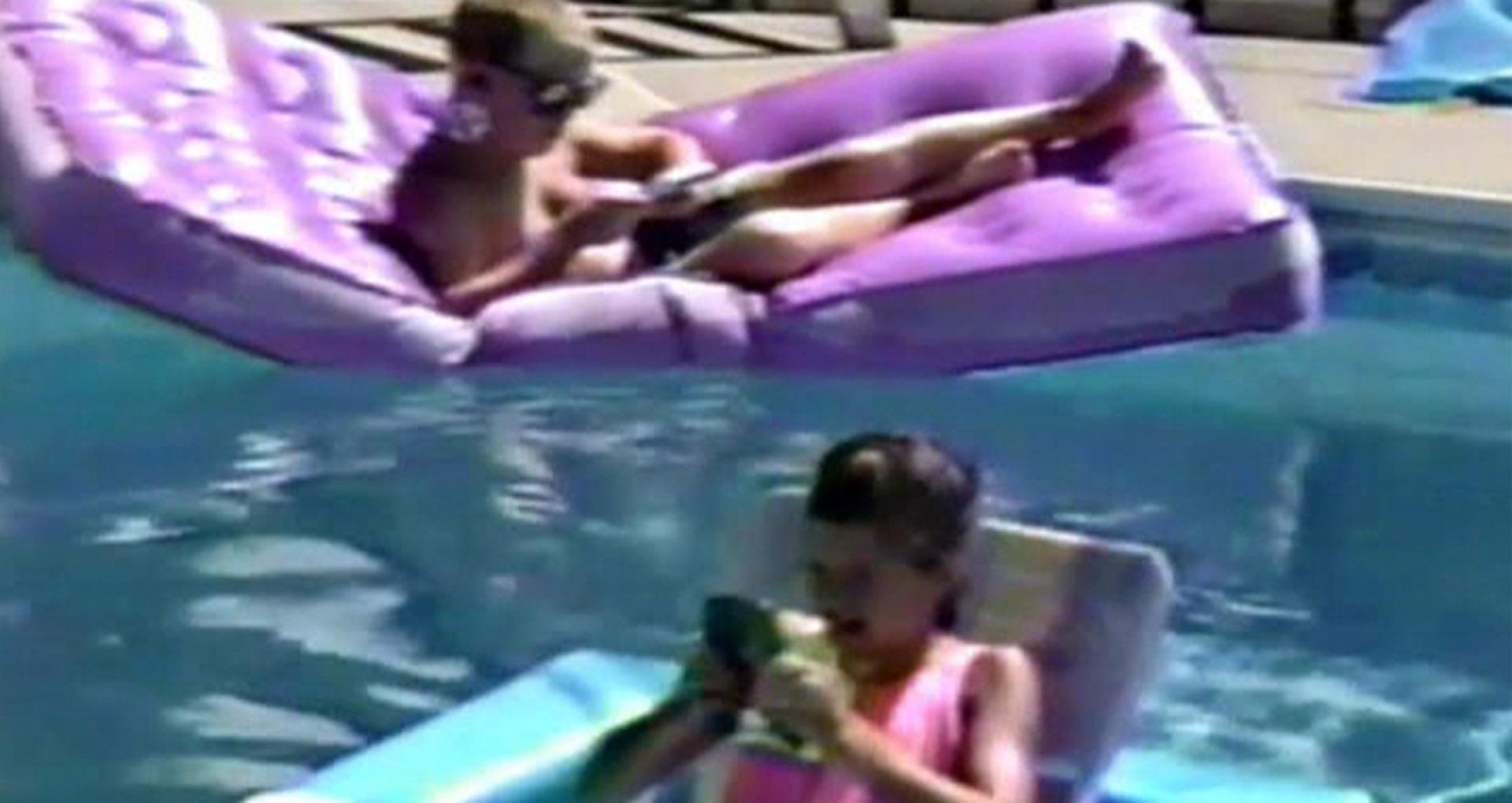piscine, enfants, matelas gonflables